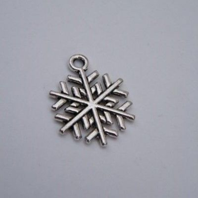 Winter Snowflake Keyring - Double Charm Style